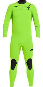 2021 Xcel Mens Comp 3/2mm Chest Zip Wetsuit MN32ZX - Fluro Lime
