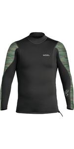 2021 Xcel Mens Axis 2/1mm Long Sleeve Wetsuit Top MN216AX0C - Black / Camo