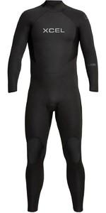 2021 Xcel Mens Axis 3/2mm Back Zip Wetsuit MN32AXG0 - Black