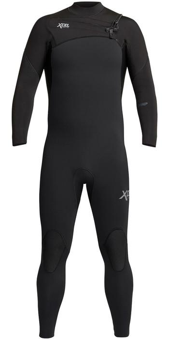 2021 Xcel Mens Comp 4/3mm Chest Zip Wetsuit MN43ZXC0B - Black