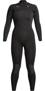 2021 Xcel Womens Comp 4/3mm Chest Zip Wetsuit WN43ZXC0 - Black / Flower