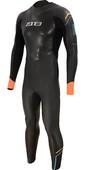 2021 Zone3 Mens Aspect Breaststroke 3/2mm Triathlon Wetsuit WS21MAP - Black / Blue / Orange