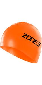2021 Zone3 Silicon Swim Cap SA18SCAP - Hi-Vis Orange