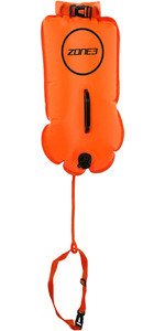 2021 Zone3 Swim 28L Safety Buoy / Dry Bag SA18SBDB - Hi-Vis Orange