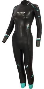 2021 Zone3 Womens Advance Triathlon Wetsuit WS21WADV - Black / Turquoise