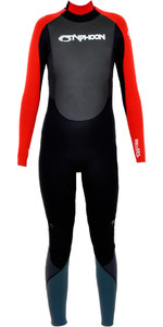 2019 Typhoon Junior Storm 5/4/3mm Wetsuit in Black / Red 250603