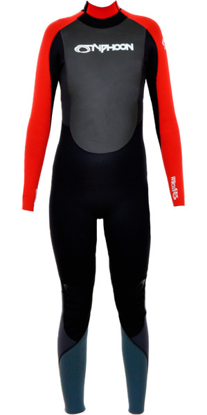 2018 Typhoon Junior Storm 5/4/3mm Wetsuit in Black / Red 250603