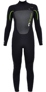 2019 Typhoon Junior TX2 5/4/3mm Chest Zip Wetsuit BLACK 250608