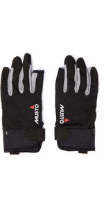 2021 Musto Essential Sailing 3 Finger Gloves AUGL002 - Black