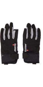 2020 Musto Essential Sailing 3 Finger Gloves AUGL002 - Black