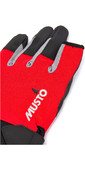 2021 Musto Essential Sailing Long Finger Gloves AUGL002 - Red