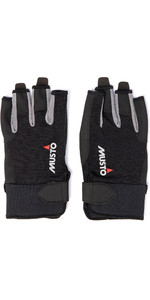 2021 Musto Essential Sailing Short Finger Gloves AUGL003 - Black