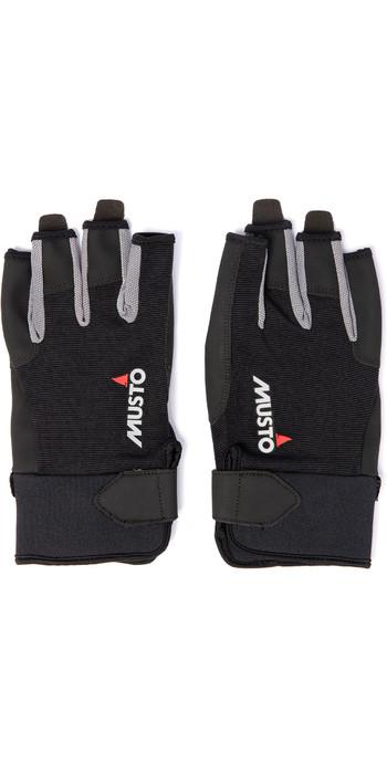 2020 Musto Essential Sailing Short Finger Gloves AUGL003 - Black
