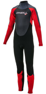 2019 O'Neill Youth Epic 5/4mm Back Zip GBS Wetsuit Black / Red / Graphite 4219
