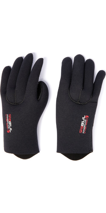 2020 Gul 5mm Neoprene Power Gloves GL1229-B5 - Black