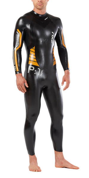 2019 2XU P:1 Propel Triathlon Wetsuit BLACK / FLAME ORANGE MW4991c