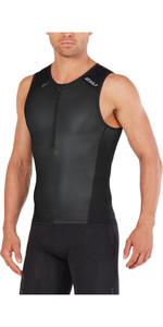 2018 2XU Perform Tri Singlet BLACK / BLACK MT4851a