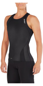 2XU Womens Perform Triathlon Singlet BLACK WT4857a