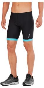 2XU Active Tri Shorts BLACK / RETRO DRESDEN BLUE MT4864b