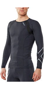 2XU Compression Long Sleeve Top BLACK MA2308A