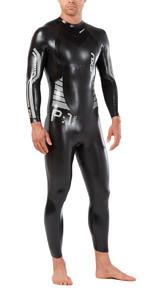 2019 2XU Mens P:1 Propel Triathlon Wetsuit BLACK / SILVER MW4991c