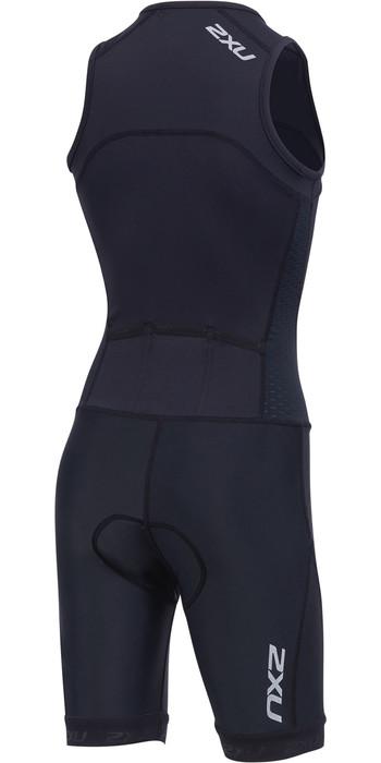 2019 2XU Junior Active Half Zip Trisuit Black CT5543d
