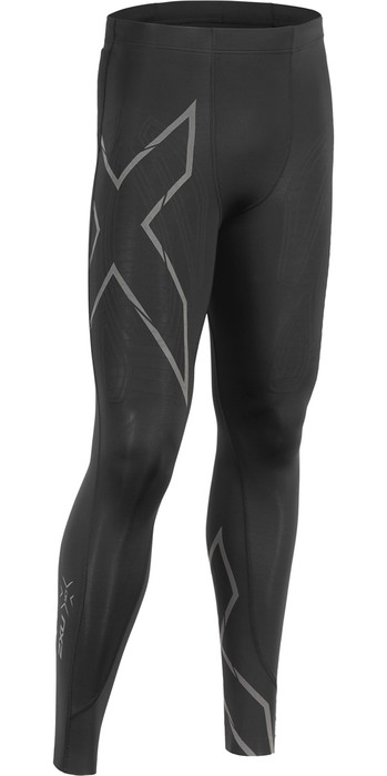 2019 2XU Mens MCS Run Compression Tights Black / Reflective MA5305b