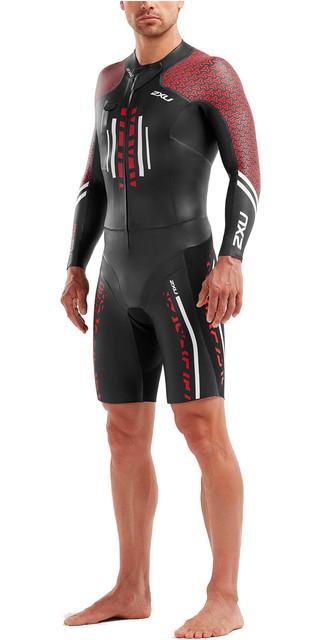 076c4f2500 2019 2XU Mens Pro Swim-Run Pro Wetsuit Black / Flame Scarlet MW5477c.  £374.95