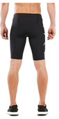 2019 2XU Mens Run Compression Shorts Black / Silver MA5306b