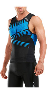 2019 2XU Perform Tri Singlet Black / Signal Blue MT5530a