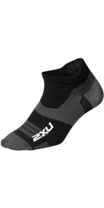 2021 2XU Vectr Ultralight No Show Socks UA5041e - Black