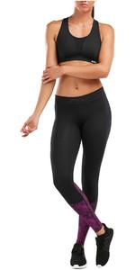 2019 2XU Womens Accelerate Comp Tights Black / Fushia WA5372b