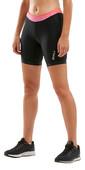 "2020 2XU Womens Active 7"" Tri Shorts WT4868B - Black / Sunset Ombre"