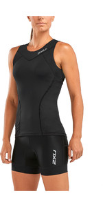 2019 2XU Womens Active Tri Singlet Black WT5547a