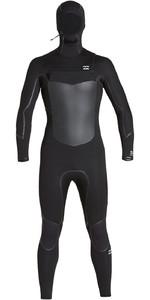 2019 Billabong Mens Furnace Absolute X 5/4mm Hooded Chest Zip Wetsuit Black Q45M08