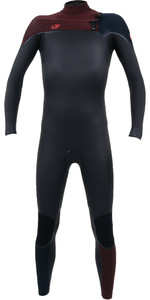 2020 O'Neill Youth Psycho One 4/3mm Chest Zip Wetsuit Raven / Widow 4968