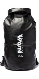 2020 Nava Performance 20L Drybag With Backpack Straps NAVA002 - Black