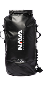 2020 Nava Performance 40L Drybag With Backpack Straps NAVA005 - Black