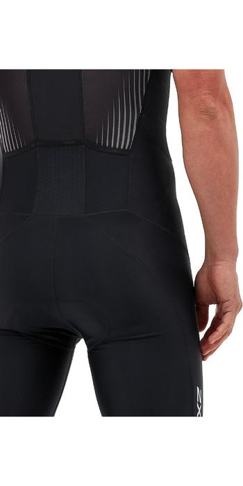 2020 2XU Mens Perform Full Zip Short Sleeve Trisuit MT5525D - Black / Shadow