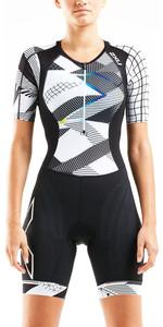 2020 2XU Womens Compression Short Sleeve Trisuit WT5521D - Black / Chroma
