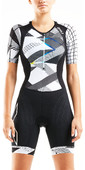 2020 2XU Womens Compression Short Sleeve Trisuit WT5521D - Black / Chroma