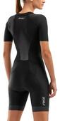 2020 2XU Womens Perform Full Zip Short Sleeve Trisuit WT6060D - Black / Shadow