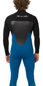 2020 Animal Mens Lava 3/2mm Chest Zip Wetsuit AW0SS006 - Marina Blue