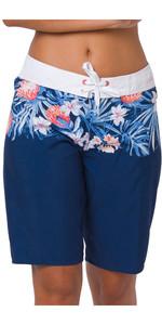 2020 Animal Womens Fianno Boardshorts CL0SS325 - Blueberry Navy Blue