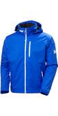 2020 Helly Hansen Mens Crew Hooded Midlayer Jacket 33874 - Royal Blue