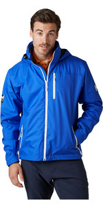 2020 Helly Hansen Mens Crew Hooded Midlayer Jacket 33874 - Royal Blue