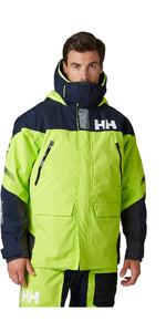 2020 Helly Hansen Mens Skagen Offshore Sailing Jacket 33907 - Azid Lime