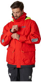 2021 Helly Hansen Mens Pier Sailing Jacket 34156 - Alert Red