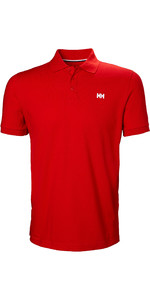 2021 Helly Hansen Mens Transat Polo Shirt 33980 - Alert Red