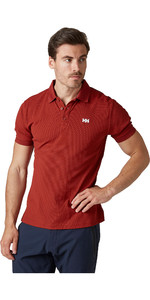 2021 Helly Hansen Mens Driftline Polo Shirt 50584 - Oxblood